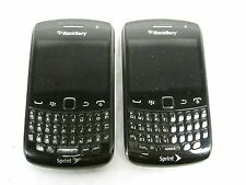 2 Blackberry 9350 Curve Sprint CDMA Cellular Cell Phone Lot Used Free Shipping