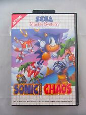 Sonic The Hedgehog CHAOS Master System Game Boxed Complete & Manual UK PAL