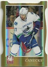 2011-12 Elite Ryan Kesler Gold Die-Cut 13/99 Vancouver Canucks