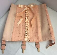 Vintage 50's 60's Style Pink French Corset Girdle Never Used Deadstock S 8 10