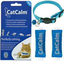 CatCalm Breakaway Collar & Twin Cat Calming Pouch Pack With 100% Natural Formula