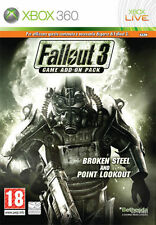 Fallout 3 Game Add On Pack 2 Broken Steel & Point Lookout XBOX 360 IT IMPORT