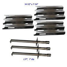 Vermont Castings Gas Grill Replacement Grill Burner and Heat Plate-3pack