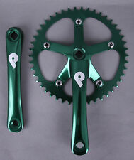 Pake Fixed Gear Track Messenger Single Speed Bike Crankset 170mm x 46t Green