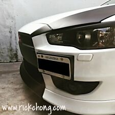 2008 TO 2015 MITSUBISHI LANCER SE FRONT BUMPER CENTER LIP PAINTED MATTE BLACK