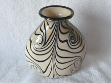 FENTON Art Glass By Dave Fetty Feather Vase