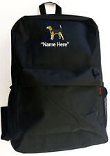 BEAGLE Dog with Personal Name Embroidered Monogrammed Stitched Backpack Bag