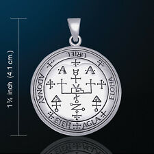 Sigil of the Archangel Uriel White Bronze  Pendant Amulet