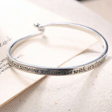 925 Silver Plt Bangle, Love isn't Finding Someone You Can Live With Ladies Gift
