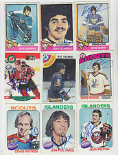 1978-79 TOPPS SIGNED CARD WILF PAIEMENT ROCKIES SCOUTS MAPLE LEAFS SABRES 99 145