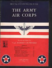 The Army Air Corps 1939 Sheet Music