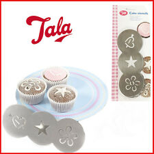 Quality Cake Stencils Stainless-Steel Cupcake Decor TALA Sugar Craft 3 Shape New