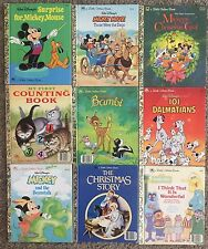 A Little Golden Book Lot Of 9 Books. Disney Mickey Mouse, Bambi, Christmas