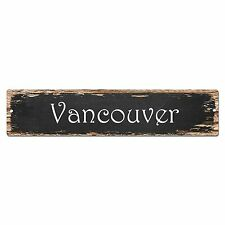 SP0146 Vancouver Street Sign Bar Store Shop Pub Cafe Home Room Chic Decor