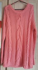 Monsoon oversized coral knitted jumper. Size small