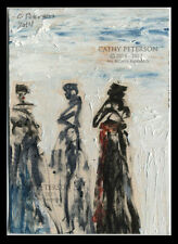 3 Ladies of High Fashion Original ACEO oil PAINTING Signed Fine Art C Peterson