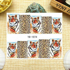 Nail Art Manicure Water Transfer Decal Stickers Leopard YB1074