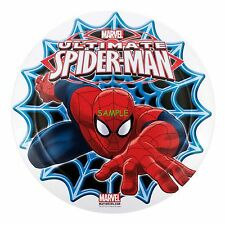 Spiderman Round Edible Birthday Cake Topper Frosting Sheet Decoration