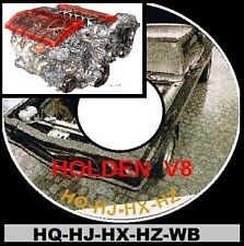 HOLDEN HQ HJ HX HZ WB + LS1 series V8 INFO + PARTS RESTORATION ASSEMBLY BIBLE CD