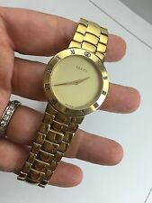 Vintage  Gucci 3300M Luxury Men's  Gold Tone Watch Deployment Buckle