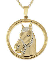 "Horse Head Pendant & Necklace Horse Head Medallion Hand Cut 1"" ( # 694 )"