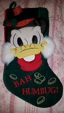 Disney Scrooge McDuck Bah Humbug Christmas Stocking