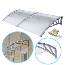6.5 ft DIY Overhead Clear Outdoor Awning Patio Cover Door Window Polycarbonate