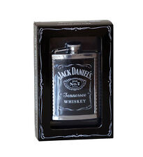 JACK DANIEL'S STAINLESS STEEL RIBBED FLASK 5546JD OFFICIALLY LICENSED