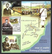 India 2007 Gandhi Satyagraha MS miniature sheet MNH