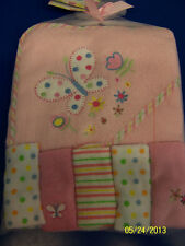 Hooded Towel & Washcloth Set Bath Cute Baby Shower Party Gift - Pink Butterfly