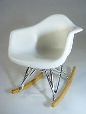 ReacJapan RAR Rocking Chair WHITE. Miniature Mid-Century Designer Chairs
