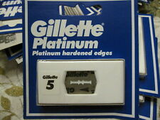 "Gillette Platinum ""Swedes"" NOS double edge razor blades 5-pack"