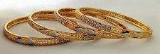 Indian Tradition Bollywood Gold Plated Bangle Set of 4 size 2.10.