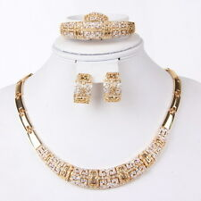 Fashion GP Necklace Bracelet Earrings Ring Swarovski Element Crystal Jewelry Set