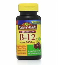 Nature Made Vitamin B-12 3000mcg, Sublingual Lozenges, Cherry 40 ea (Pack of 3)