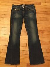 """True Religion """"Joey"""" Twisted Boot Cut Jeans W/Gold Studs; Size 26"""