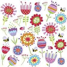 20 Paper Napkins CHEERFUL MEADOW Decoration Bees Party Kinds Decoupage 33x33cm