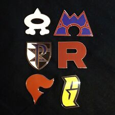 Pokemon Villain Badges Kanto Johto Hoenn Kalos Team Rocket