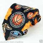 Basketball Shoes Mens Necktie Sports Fan Jersey Net Novelty Gift Black Tie New