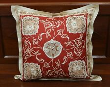 BEAUTIFUL JIM THOMPSON 100% THAI SILK CLASSIC PRINTED SQUARE PILLOW COVER 18""