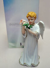 "ANGEL PORCELAIN FIGURINE ""MICHAEL"" (Strength of God) 7"" h., NEW IN BOX, MINT"