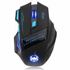 Gaming optische LED USB Maus bis 2400 DPI Wireless Kabellos Funkmaus NEU
