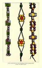 * HOW TO BEADWORK BEADING STRING NATIVE AMERICAN DESIGNS * 3 RARE BOOKS on CD *