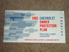 1965 Impala Sport Coupe Factory GM Owner Protection Plan Booklet True 164375S