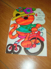 """Hi, 4-Year-Old!  HAPPY BIRTHDAY"" Greeting Card For A Little Girl--USA"