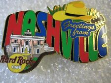 NASHVILLE,Hard Rock Cafe Pin,Greetings From