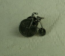 NEW Antinqued Silvertone or Pewter BICYCLE Lapel Hat Pin