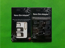 Nano sim card to micro sim card standard adapter adaptor converter sets -Black