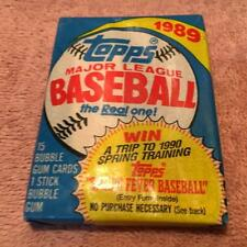 1989 Topps Major League Baseball 15 Bubble Gum Cards & 1 Stick Bubble Gum.