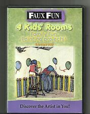 FAUX FUN: 4 Kids Rooms (DVD, 2006) Family Projects: 2 Tape DVD